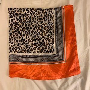 Large cheetah/leopard print scarf
